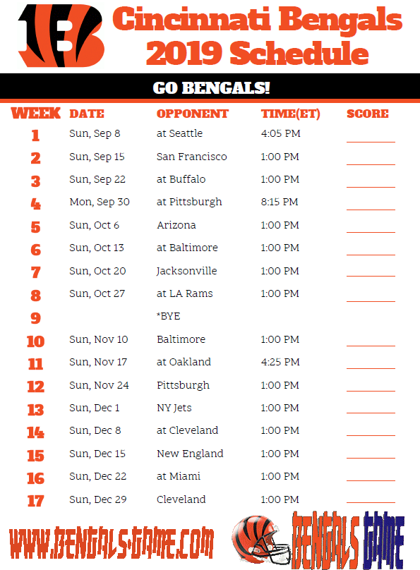 Bengals Game | Live Stream, TV schedule, Cincinnati Bengals, Football, Today/Tonight, How to watch, Free, Online, 2019